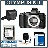 Olympus OM-D E-M5 Digital Camera Body, Black - Bundle - with SanDisk 16GB Extreme SDHC Memory Card, Olympus Mini-Messenger Bag, Xtreme Cable 6 Micro HDMI Cable, and Adorama Cleaning Kit for Optics and Cameras