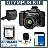 Olympus OM-D E-M5 Digital Camera, Black, with Olympus M.Zuiko Digital 14-42mm II R Lens - Bundle - with SanDisk 16GB Extreme SDHC Memory Card, Olympus Mini-Messenger Bag, Xtreme Cable 6 Micro HDMI Cable, and Adorama Cleaning Kit for Optics and Cameras