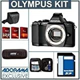 Olympus OM-D E-M5 Digital Camera Body, Black - Bundle - with 16GB SD Memory Card, Camera Case, USB Card Reader, Lens Cleaning Kit, Red Giant Adorama Production Bundle for PC/Mac a $599.00 Retail Value