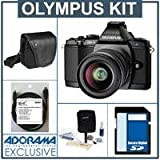 Olympus OM-D E-M5 Digital Camera, Black, with Olympus 12-50mm f/3.5-5.6 EZ Zoom Lens - Bundle - with SanDisk 16GB Extreme SDHC Memory Card, Olympus Mini-Messenger Bag, Xtreme Cable 6 Micro HDMI Cable, and Adorama Cleaning Kit for Optics and Cameras