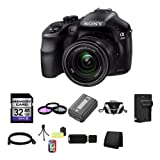 Sony A3000, ILCE-3000K, ILCE-3000KB, 20. 1MP Interchangeable Lens Camera with 18-55mm Zoom Lens (Black) 32GB Package 3