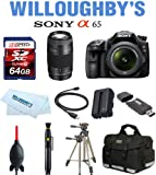 Sony Alpha SLT-A65VK + Sony DT 18-55mm + Sony SAL75300MM + Bag + Battery +64GB (10) Kit
