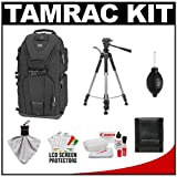Tamrac 5786 Evolution 6 Photo Digital SLR Camera Sling Backpack (Black) + Tripod + Canon Cleaning Kit for Canon EOS 7D, 5D Mark II III, 60D, Rebel T3, T3i, T2i Digital SLR Cameras