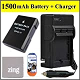 ENEL14 Battery And Charger Kit for Nikon D3100 D3200 D5100 D5200 COOLPIX P7100 P7700 Digital SLR Camera - Includes EN-EL14 Replacement Battery + AC/DC Charger + LCD Screen Protectors + Micro Fiber Cleaning Cloth