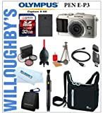 Olympus PEN E-P3 W/ 17mm 2.8 Lens (Silver) + 32GB + Battery + Bag + Filter Kit