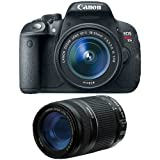 Canon EOS Rebel T5i Digital SLR Camera & EF-S 18-55mm IS STM Lens with Canon EF-S 55-250mm f/4.0-5.6 IS II Zoom Lens
