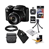 Canon PowerShot SX510 HS 12.1 MP CMOS Digital Camera with 30x Optical Zoom and 1080p Full-HD Video Ultimate Bundle With 32GB Secure Digital High Capacity (SDHC) Card, Digpro CompactDeluxe Carrying Case, Extra Battery , Tripod , HDMI Cable, Reader