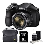 Sony DSC-H300/B DSCH300 H300 H300B DSCH300/B Digital Camera (Black) Bundle with High Speed 8GB Card, Padded Case, Lens Cleaning Kit