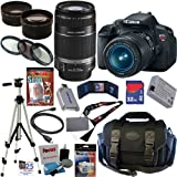 Canon EOS Rebel T4i 18.0 MP CMOS Digital SLR Camera with EF-S 18-55mm f/3.5-5.6 IS II Zoom Lens & EF-S 55-250mm f/4.0-5.6 IS Telephoto Zoom Lens + Telephoto & Wide Angle Lenses + 12pc Bundle 32GB Deluxe Accessory Kit