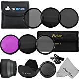 58MM Must Have Lens Filter Accessory Kit for CANON EOS Rebel T5i T4i T3i T3 T2i T1i DSLR Camera - Includes: 58MM Vivitar Filter Kit (UV, CPL, FLD) + ND Neutral Density Filter Set (ND2, ND4, ND8) + Carry Pouch + Tulip Lens Hood + Collapsible Lens Hood + Snap-On Front Lens Cap + Cap Keeper Leas + MagicFiber Microfiber Lens Cleaning Cloth