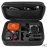 GoPro Case for GoPro Hero 1/2/3/3+ and Accessories - Ideal for Travel or Home Storage - Complete Protection for Your GoPro Camera - CamKix® Microfiber Cleaning Cloth Included (Medium,Black)