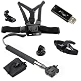 ATian(TM) Chest Harness & Head Strap Mount & Monopod Tripod Adapter for Gopro Hd Hero3+/3/2/1 Camera