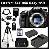 Sony a (alpha) SLT-A65V - Digital camera - SLR - 24.3 Mpix - SSE Package: Wireless Remote, Full Size Tripod, Replacement FM500H Battery, Rapid Travel Charger, 16GB SDHC Memory Card, Card Reader, Carrying Case, HDMI Cable, Shoe Mount Flash & SSE Microfiber Cleaning Cloth